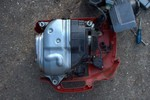 half-assembled generator