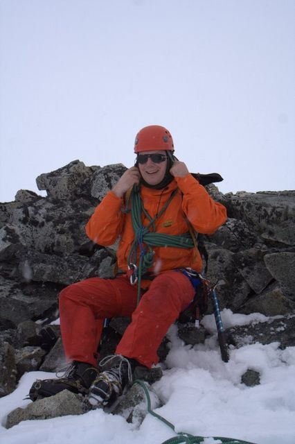 Me on Reptile Ridge, in full mountaineering gear