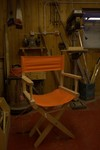 Director's chair, in the carpenter's shop