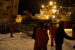 Saying goodbye on the wharf
