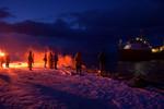Flares at dawn