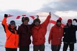 Polar Hero England supporters
